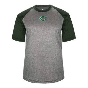 CHS Baseball Badger Heather Sport Tee - 4341