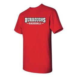 BHS Baseball Gildan 8000 50/50  Grey T-shirt