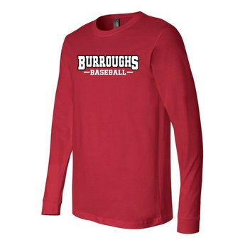 BHS Baseball  Canvas Long Sleeve Jersey Tee - 3501