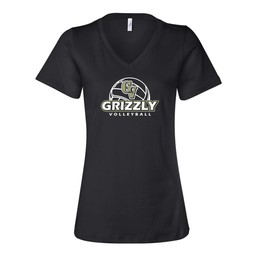 GVHS Volleyball Bella Womens Short Sleeve V-Neck T-Shirt - 6405