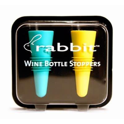 Rabbit Wine Bottle Stoppers 2-Pack