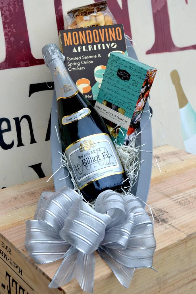 """Sparkle Magic"" H. Billiot Champagne Gift Basket"