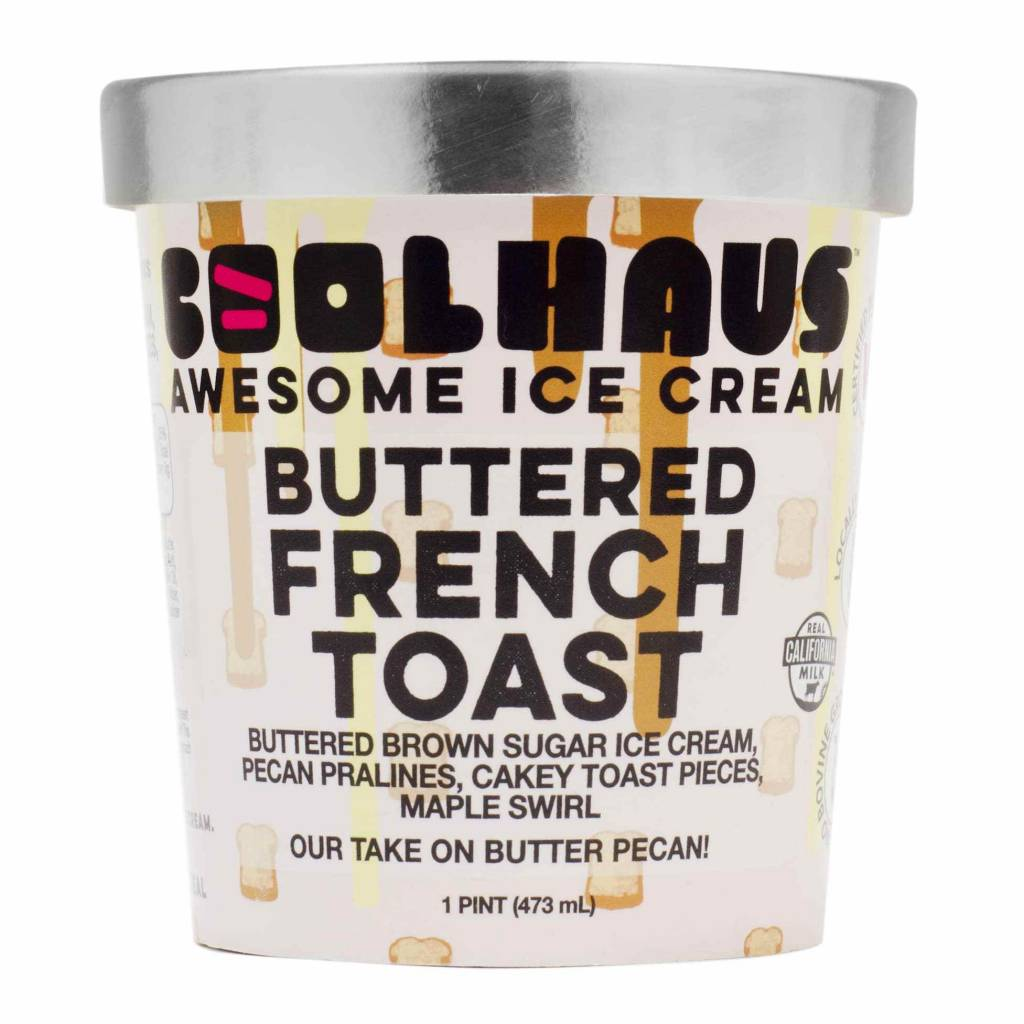 Coolhaus Buttered French Toast Ice Cream Pint, Los Angeles