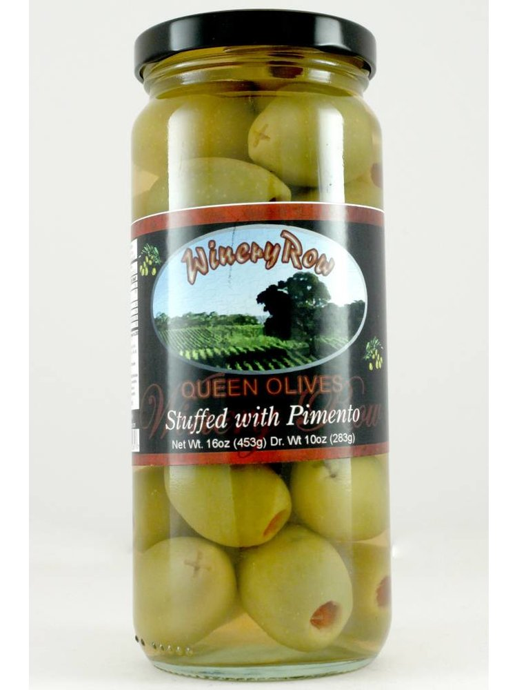 Winery Row Queen Olives with Pimento, 10oz.