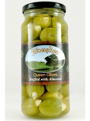 Winery Row Queen Olives with Almonds, Spain