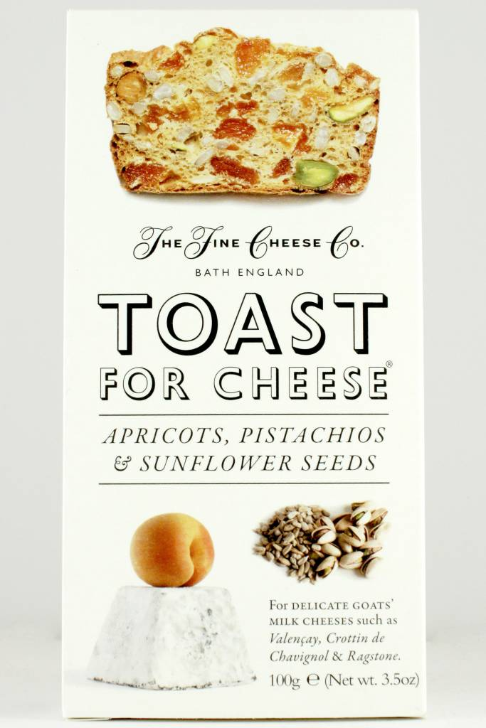 Fine Cheese Co. Toast For Cheese with Apricots, Pistachios & Sunflower Seeds