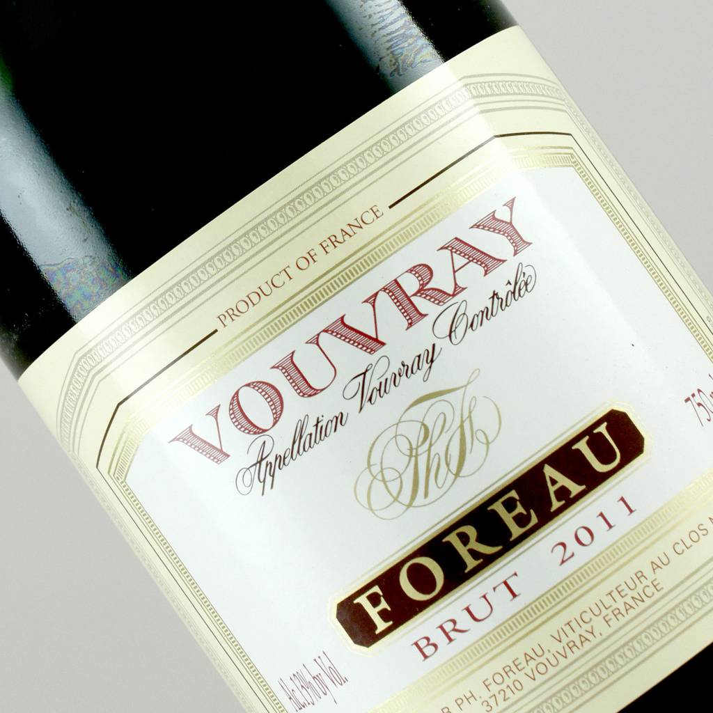 """Foreau 2011 Vouvray """"Clos Naudin"""" Brut, Loire Valley, France"""