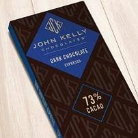 John Kelly Chocolate Bar Espresso Dark 73% Cacao, Los Angeles