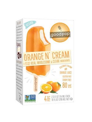GoodPop Orange N' Cream Frozen Bars, Austin, Texas 4 pack