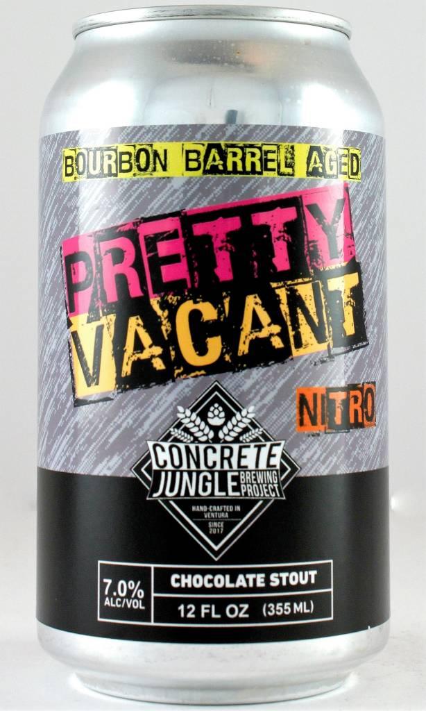"""Concrete Jungle Brewing Project """"Pretty Vacant"""" Barrel Aged Nitro Stout 12oz Cans - San Fernando CA"""