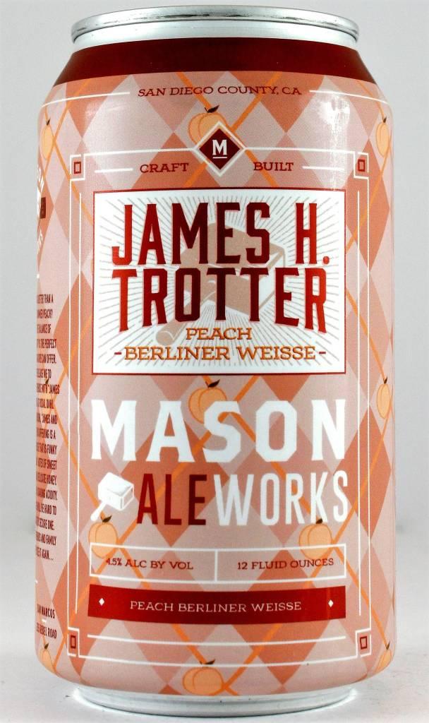 "Mason Ale Works ""James H Trotter"" Peach Berliner Weisse 12oz Can - Oceanside CA"
