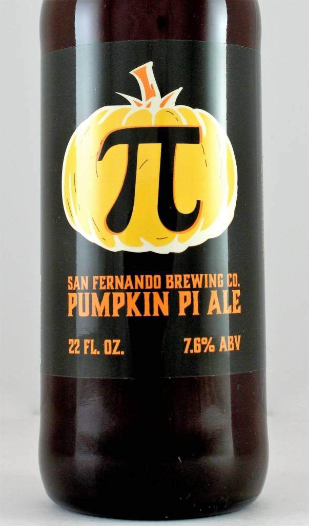 "San Fernando Brewing Co ""Pumpkin Pi Ale"" Pumpkin Ale 22oz Bottles - San Fernando CA"
