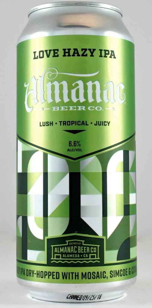 "Almanac Beer Co. ""Love Hazy"" IPA, California"
