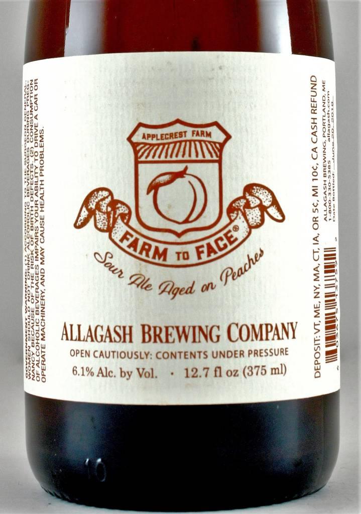 """Allagash Brewing """"Farm to Face"""" Sour Peach Ale, Maine"""