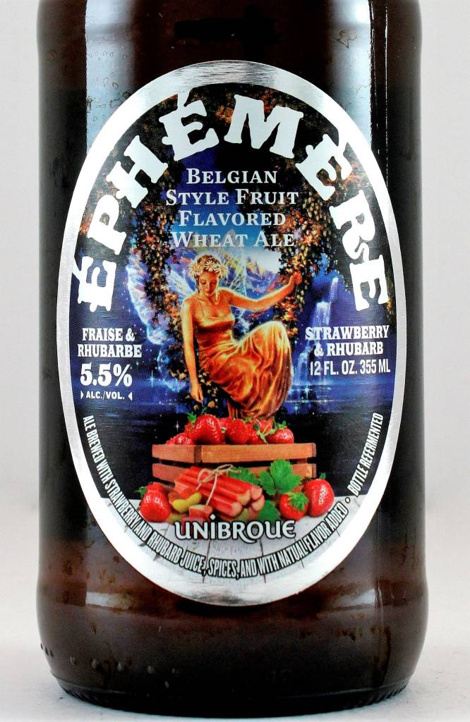 "Unibroue ""Ephemere"" Belgian Style with Strawberry & Rhubarb Ale, Canada"