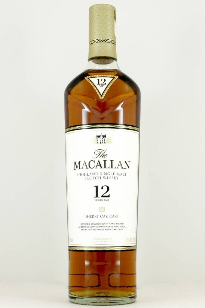 Macallan 12 Year Old Highland Single Malt Scotch Whisky