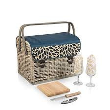 """Picnic Time  """"Kabrio"""" Wine & Cheese Basket for 2"""