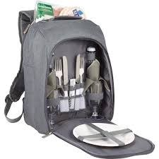 """Picnic Time """"PT Colorado"""" Picnic Cooler Backpack for 2 Gray"""