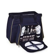 "Picnic Time ""Toluca"" Picnic Cooler Tote for 2 Navy"
