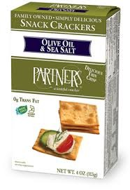 Partners Olive Oil & Sea Salt Artisan Crackers
