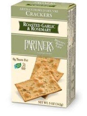 Partners Roasted Garlic & Rosemary Artisan Crackers