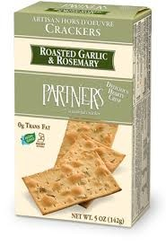 Partners Roasted Garlic & Rosemary Artisan Crackers
