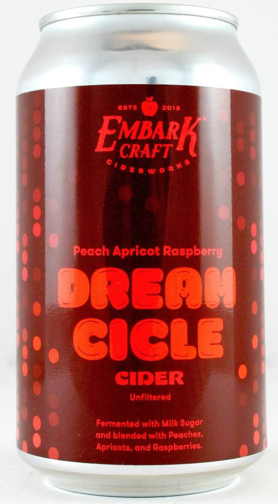 """Embark Craft Ciderworks """"Peach Apricot Rasberry Dream Cicle"""" Unfiltered Cider"""