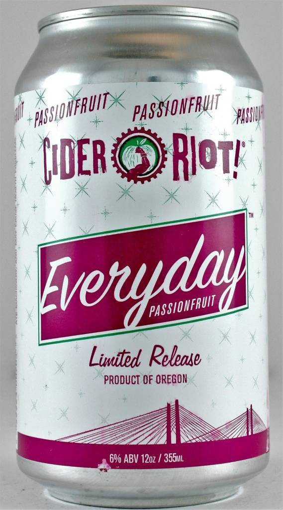 """Cider Riot """"Everyday Passionfruit"""" Cider"""