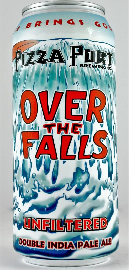 """Pizza Port """"Over the Falls"""" Unfiltered Double India Pale Ale 16oz Can - San Diego CA"""