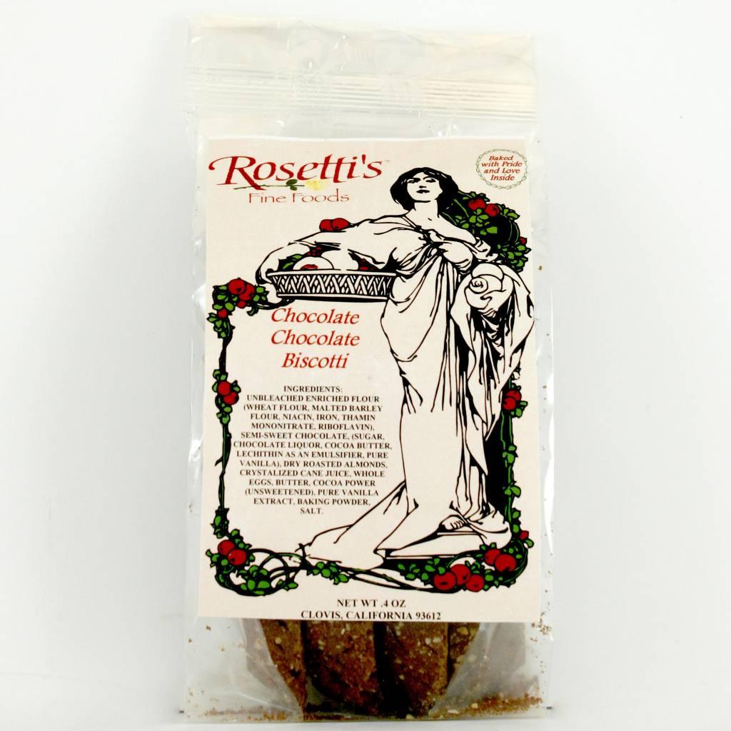 Rosetti's Chocolate Chocolate Biscotti, Clovis, California