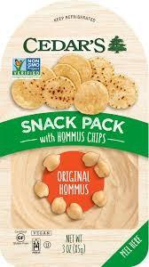 Cedar's Snack Pack Hommus with Hommus Chips