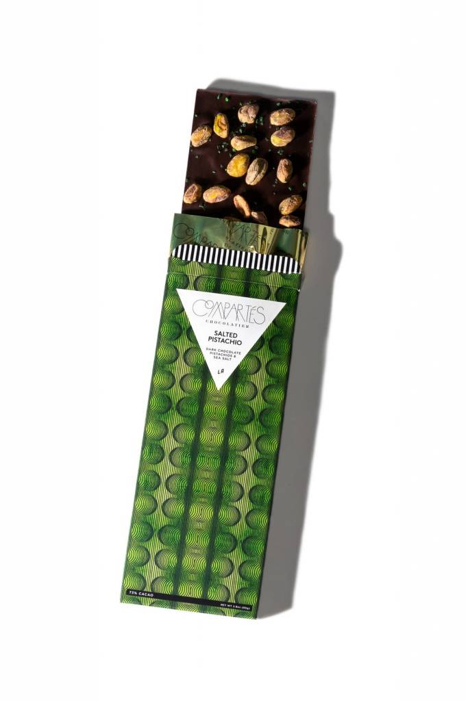 "Compartes ""Salted Pistachio"" Chocolate Bar"