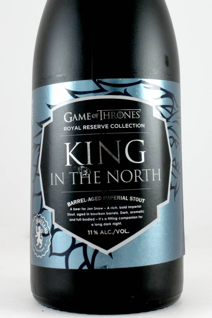 "Ommegang ""Game of Thrones King of The North"" Barrel Aged Imperial Stout 750ml Bottle"