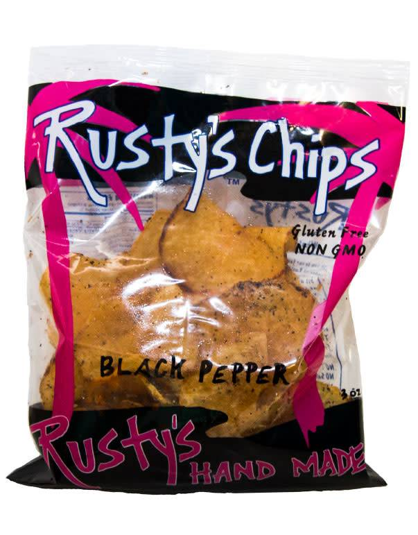 Rusty's Chips - Black Pepper Hand Made Potato Chips