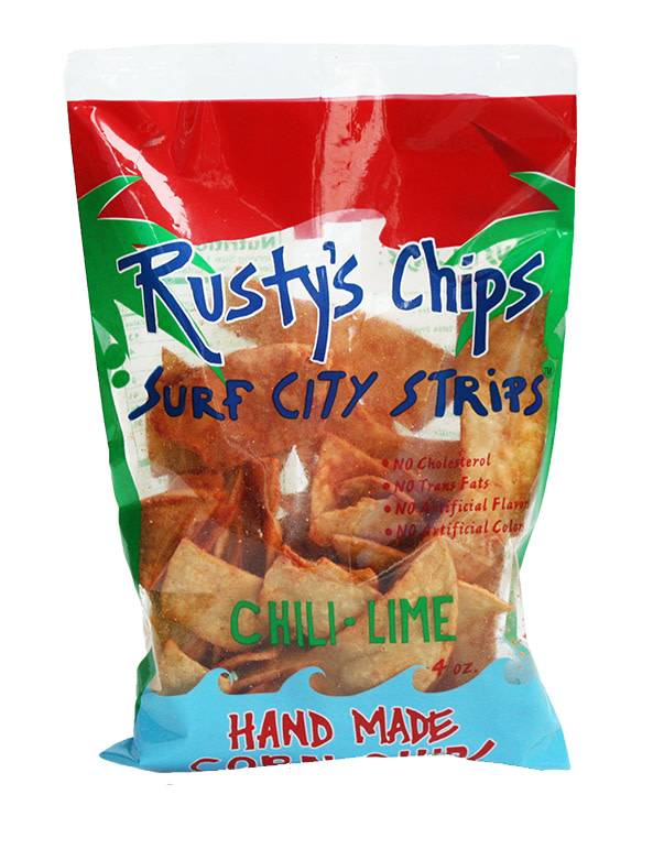 Rusty's Chips Surf City Strips - Chili LIme Hand Made Corn Chips