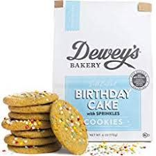 Dewey's Bakery Soft Baked Birthday Cake Cookies with Sprinkles
