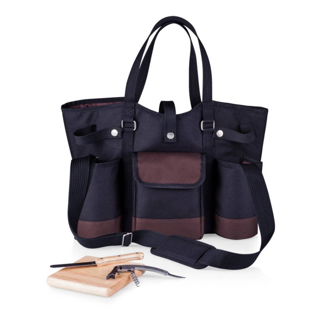 Picnic Time Wine Country Wine & Cheese Tote Black