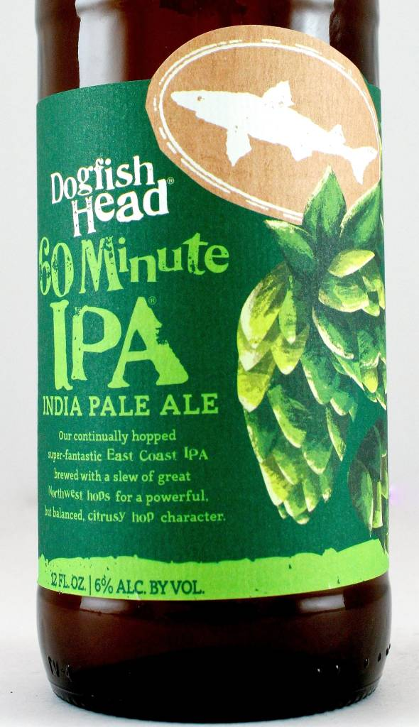 "Dogfish Head ""60 Minute IPA"" India Pale Ale 12oz Bottle - Milton DE"