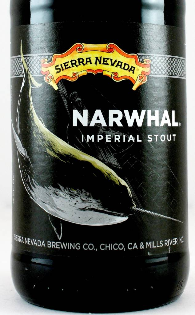 """Sierra Nevada """"Narwhal"""" 2018 Imperial Stout 12oz Bottle - Chico CA"""