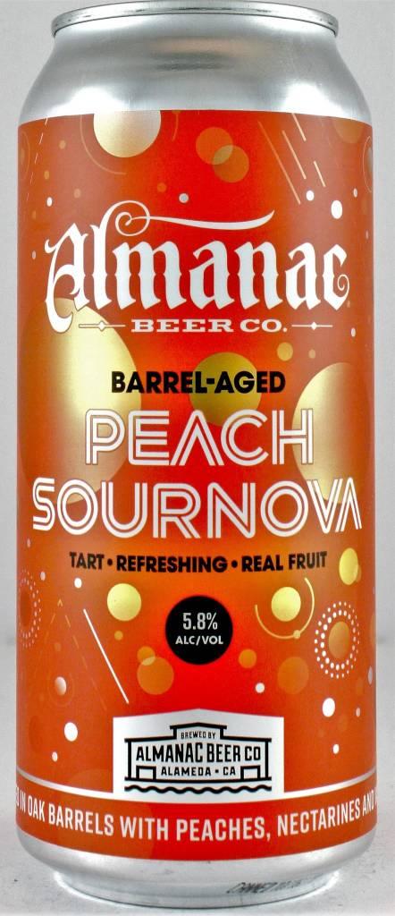 "Almanac ""Peach Supernova"" Barrel Aged Sour 16oz Can - Almeda CA"