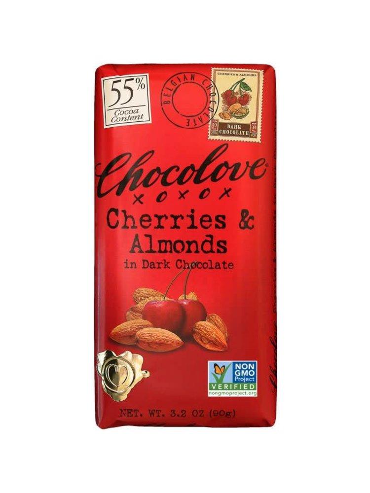 Chocolove Cherries & Almonds in Dark Chocolate Bar, Boulder