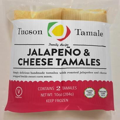 Tucson Tamale Jalapeno & Cheese Tamales, Bag of 2