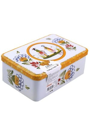 La Trinitaine Galettes-Butter Cookies in Quimper Tin, Brittany, France
