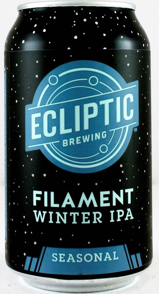 "Ecliptic Brewing ""Filament Winter IPA"" India Pale Ale 12oz Can - Portland OR"