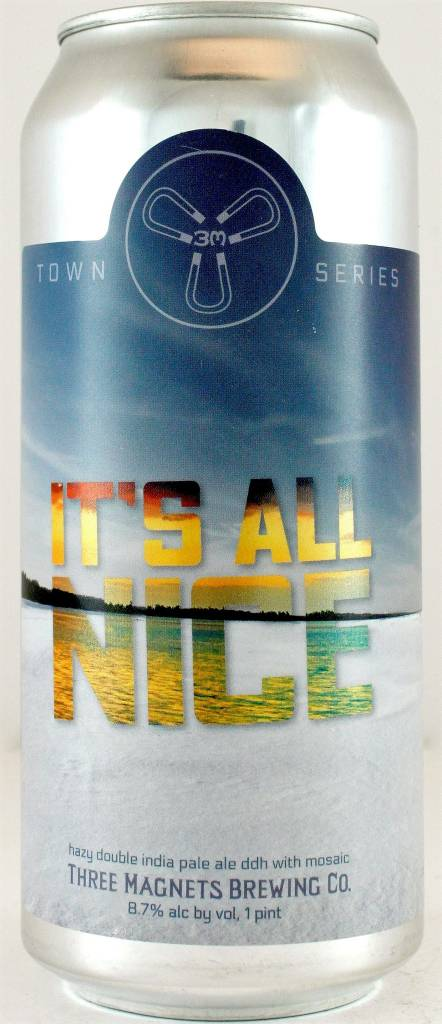 "3 Magnets ""It's All Nice"" Hazy Double India Pale Ale 16oz Can - Olympia WA"