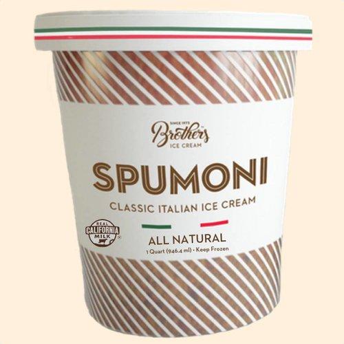 Brothers Spumoni Classic Italian Ice Cream, All Natural, Santa Ana, California, Quart