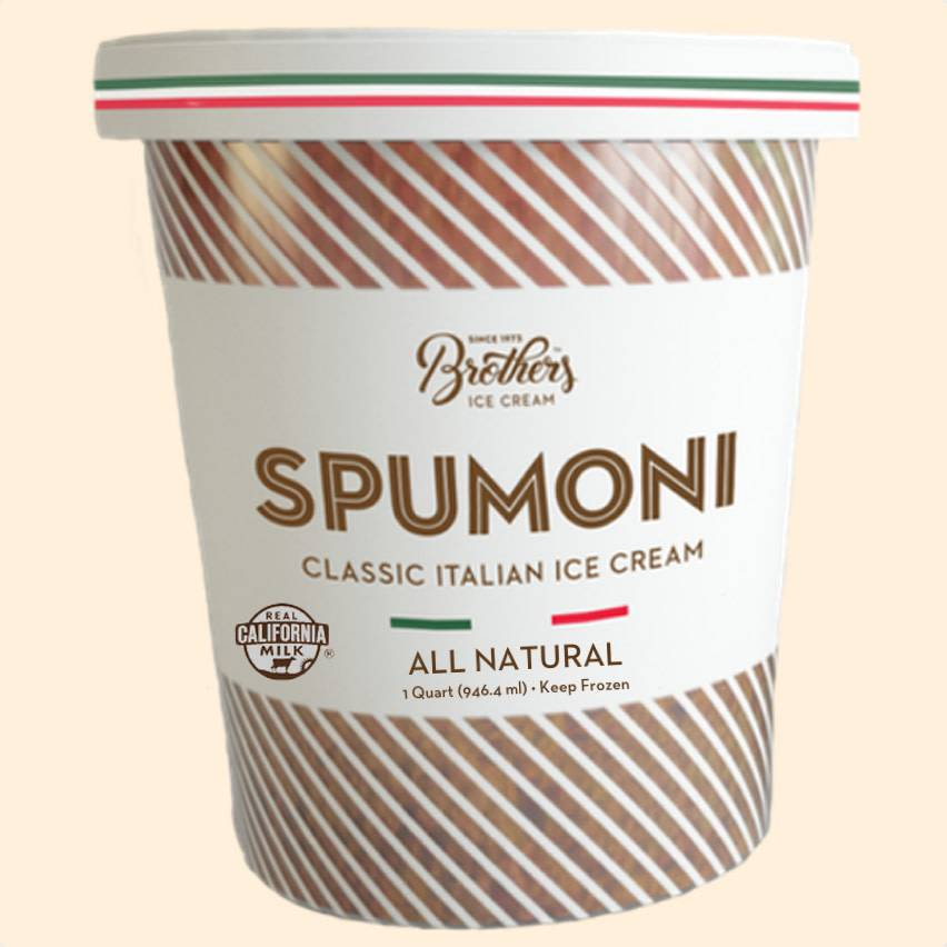 Brothers Classic Spumoni Italian Ice Cream, Santa Ana, California, Quart