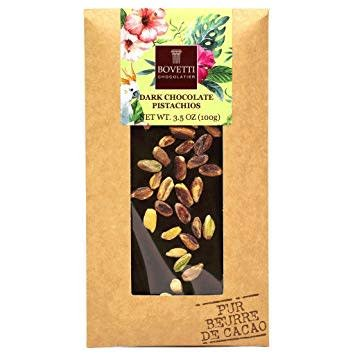 Bovetti Dark Chocolate Bar Pistachios, Dordogne, France