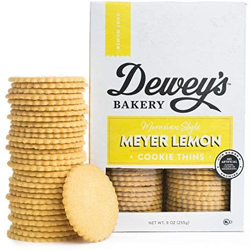 Dewey's Bakery Meyer Lemon Cookie Thins, North Carolina