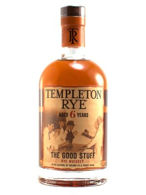 """Templeton Rye Whiskey """"The Good Stuff"""" Aged 6 Years"""